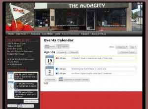 AudacityCafeWebSite 300x221 New Web Site for the Audacity and Cafe in Yreka