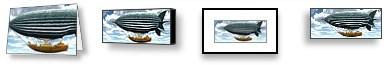 AerialAlchemyCardsPrints Steampunk Airship Aerial Alchemy Gallery Art Poster